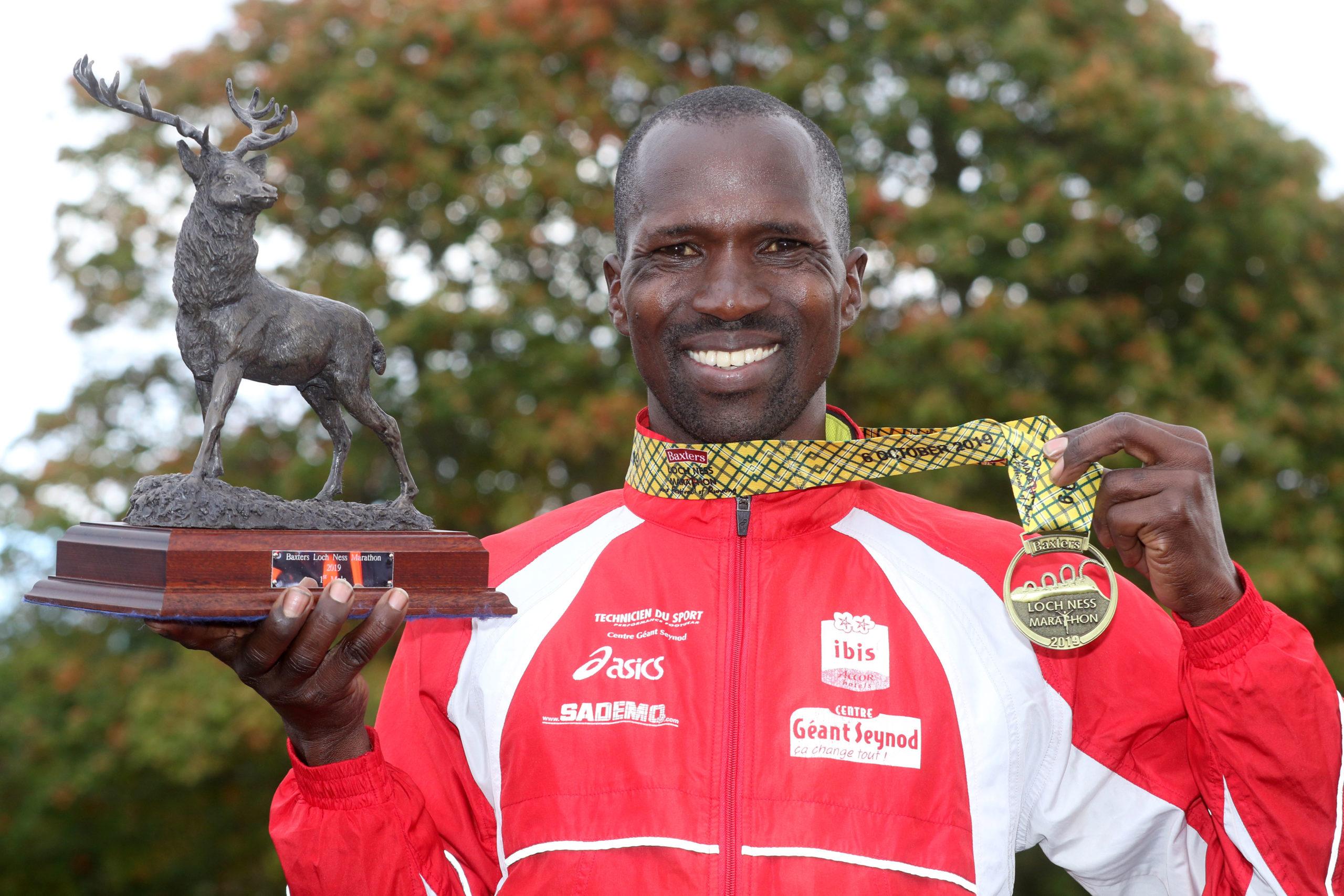 Isaiah Kosgei won the 2019 Loch Ness marathon.