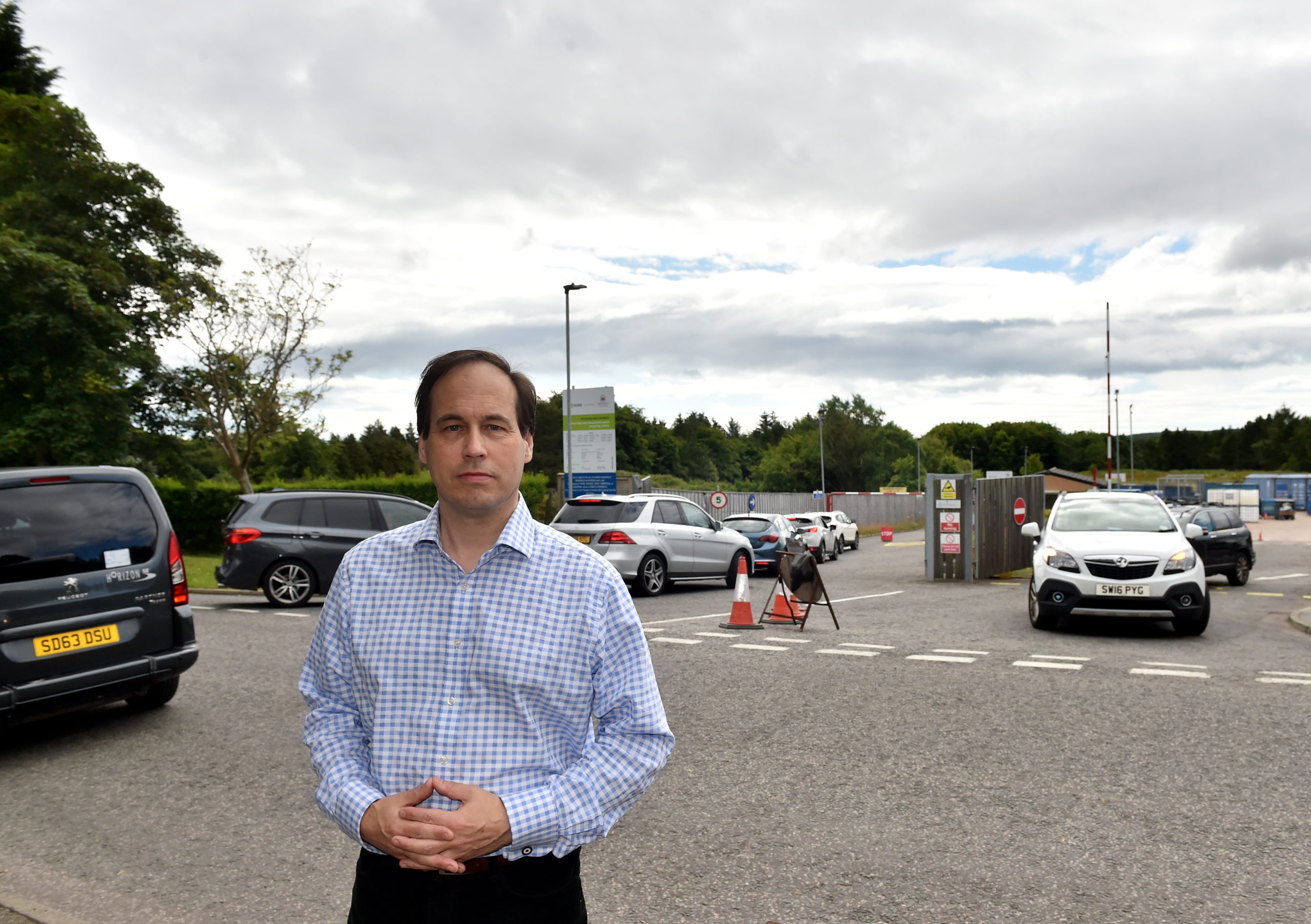 Martin Greig has concerns over the buildup of traffic on Hazlehead Avenue.