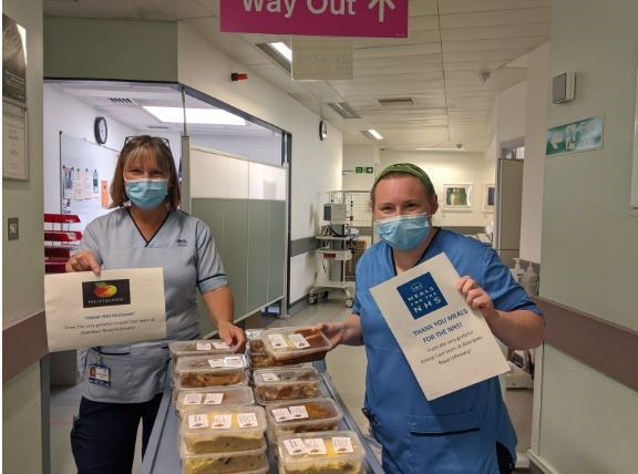 Hudsons produced more than 3,000 meals for NHS staff.