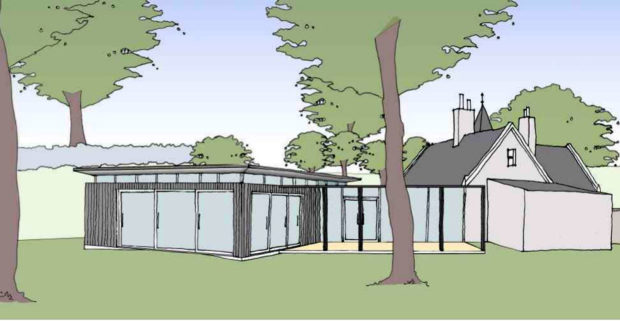 An artist's impression of the new nursery's 'base camp' at the East Gate Lodge