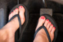 Don't wear flip flops while driving, police have warned