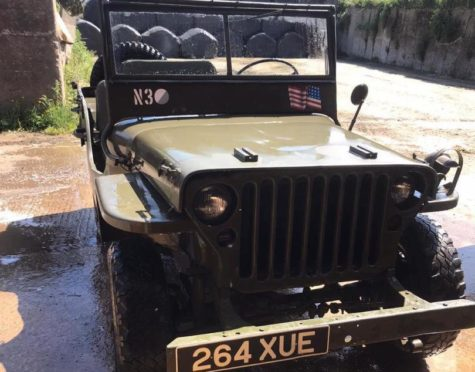 The stolen Willys Jeep