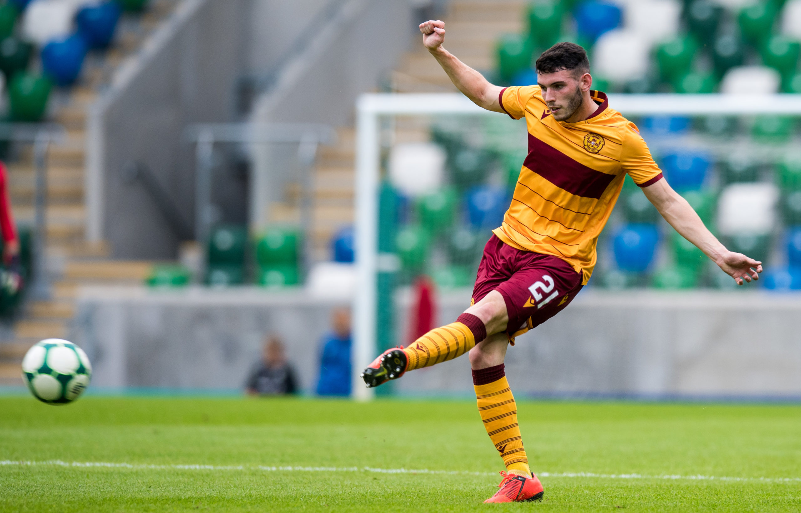 Adam Livingstone in action for Motherwell