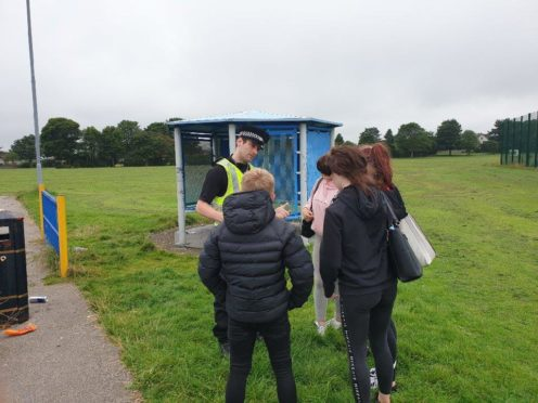 To go with story by Charlotte Thomson. Constable Russell Hall has been carrying out patrols to help tackle anti-social behaviour  Picture shows; Constable Russell Hall. Aberdeen . Courtesy Police Scotland  Date; 21/08/2020