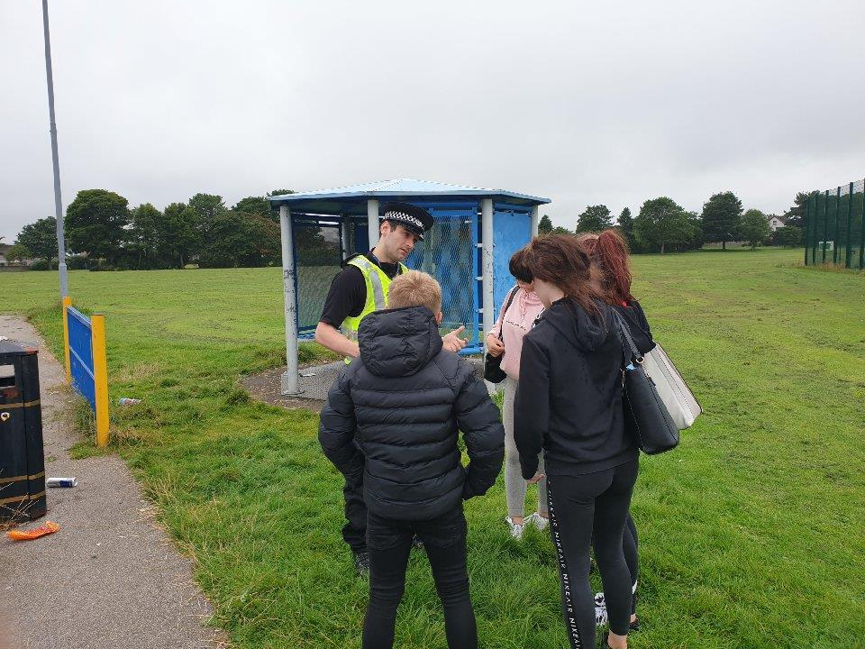 Constable Russell Hall has been speaking to youths during neighbourhood patrols