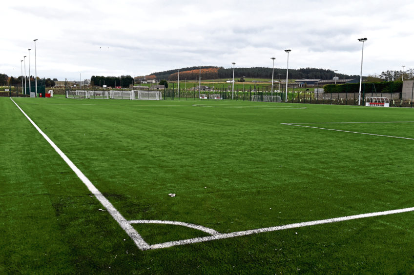 The Cormack Park surface the first team use is a hybrid pitch.