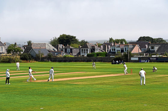 Cricketers in action at Mannofield, however the famous old ground may not see much action this summer