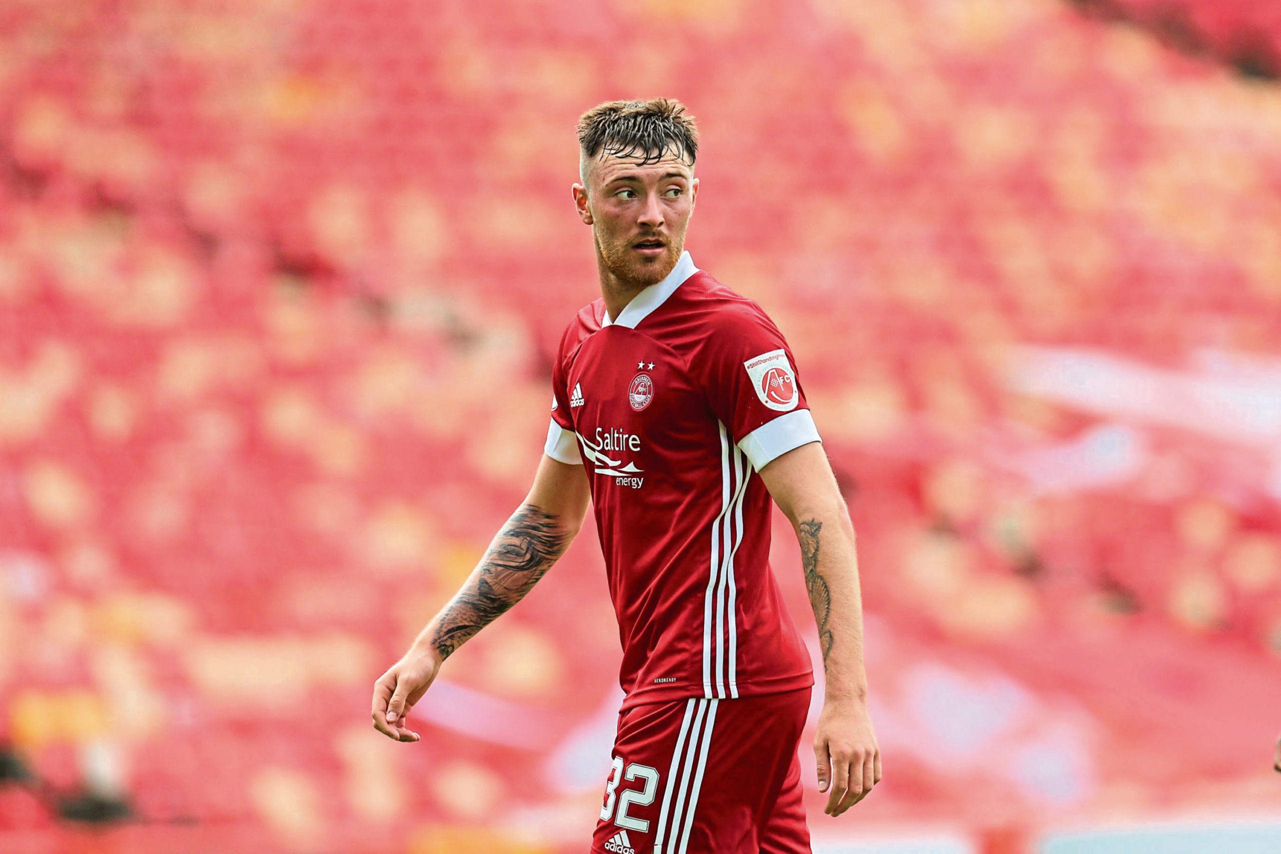 Ryan Edmondson has returned to Pittodrie after injury.