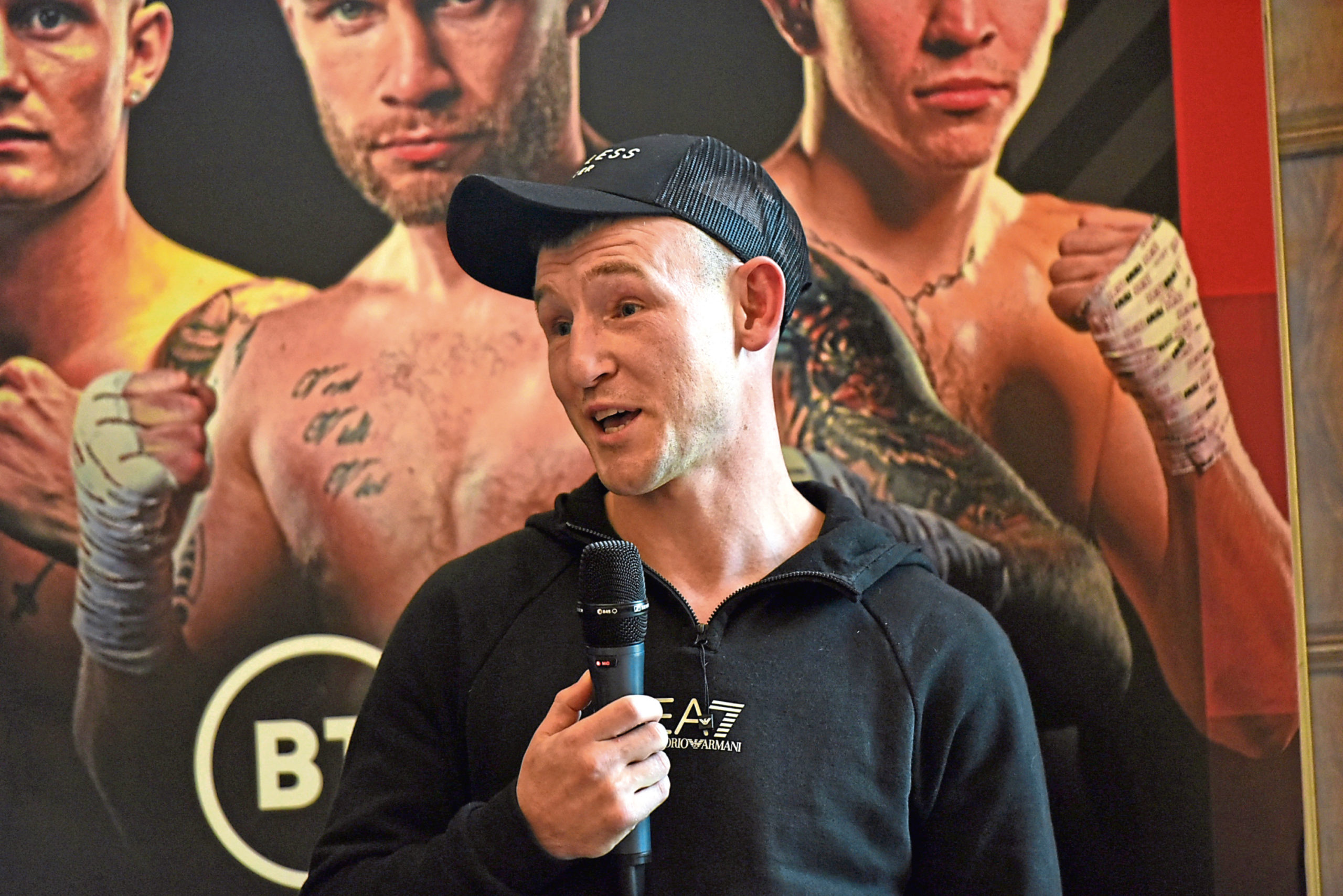Darren Traynor during the pre-fight press conference.