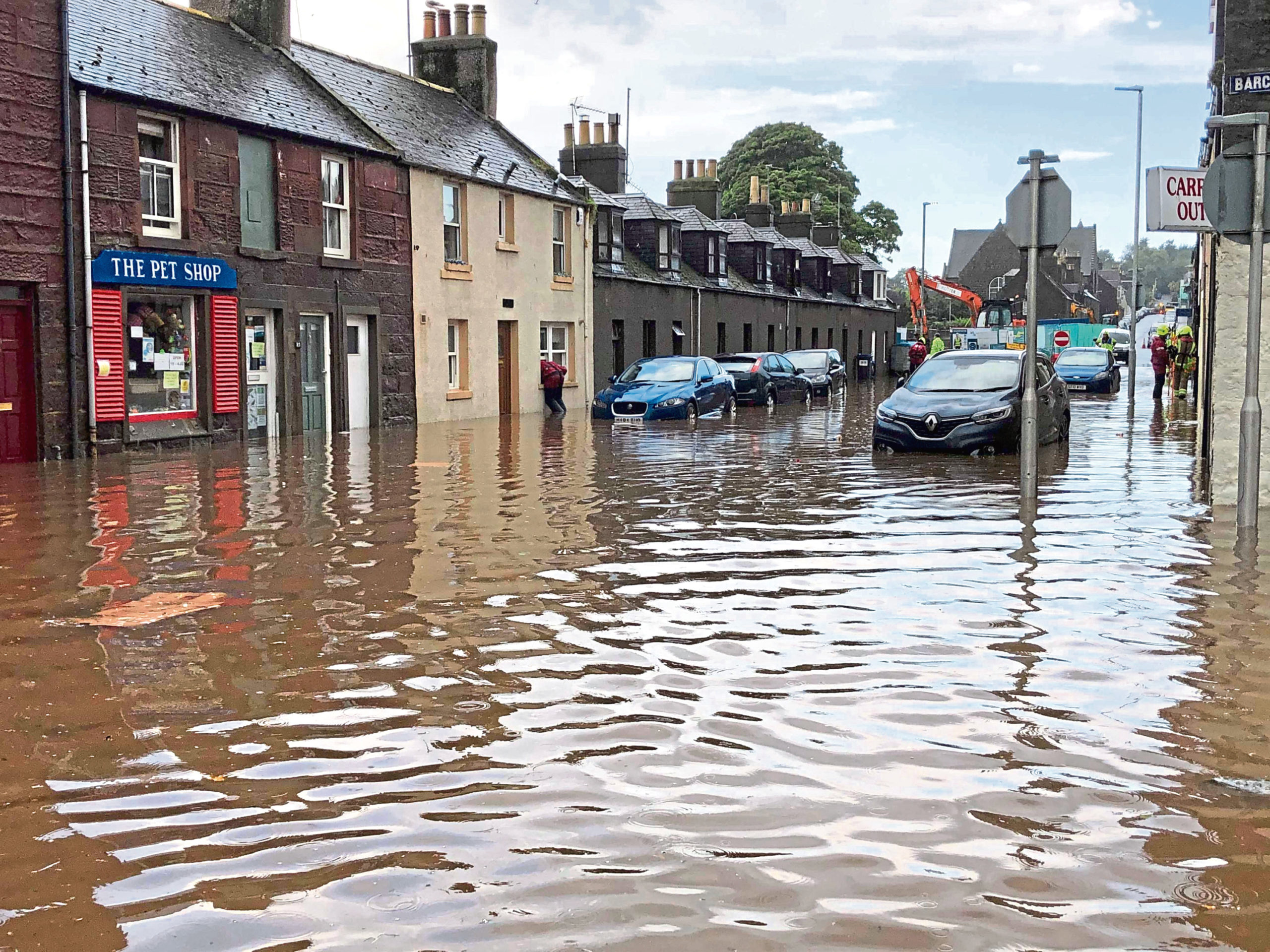 The flooding in Stonehaven last month