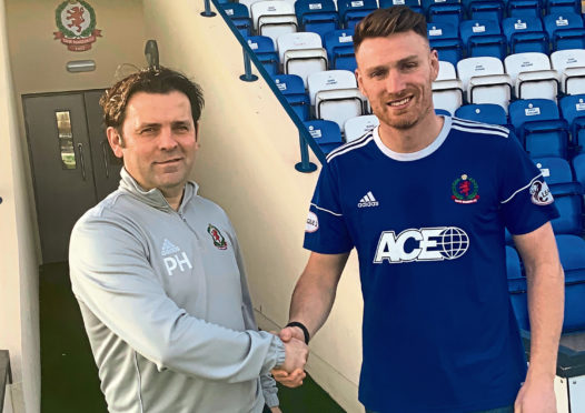 Cove Rangers boss Paul Hartley added striker Rory McAllister for the second half of last season.