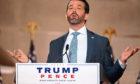 Donald Trump Jr cracked a joke about Joe Biden in his convention address