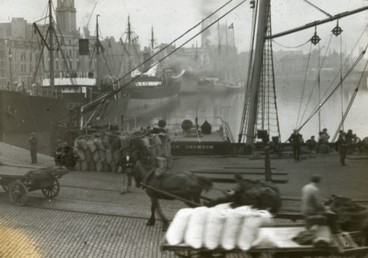 Silver City Vault: Looking back at Aberdeen Harbour