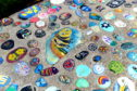 A permanent display of the painted rocks has been created at the promenade