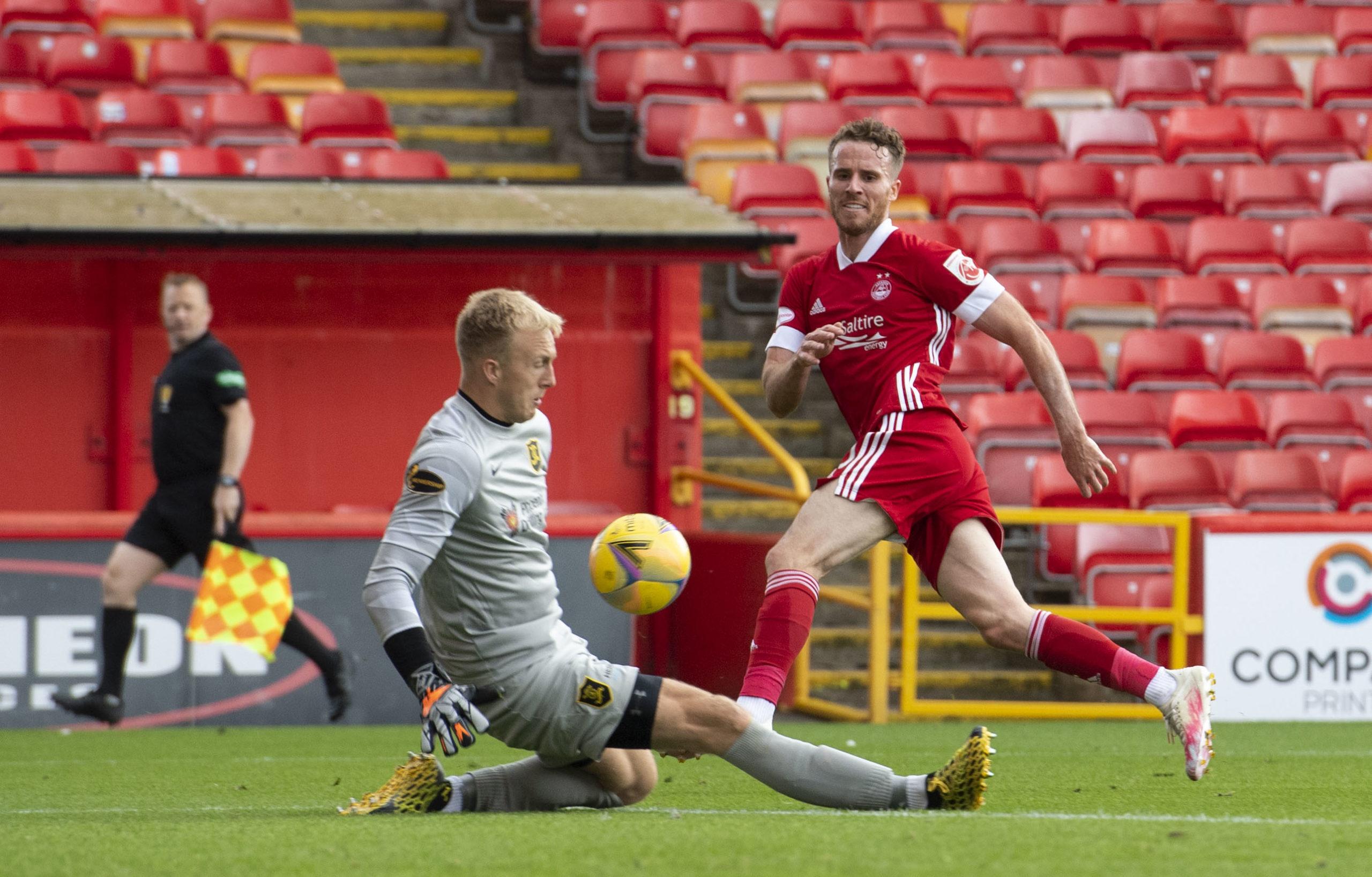 Watkins is denied a debut goal for Aberdeen.
