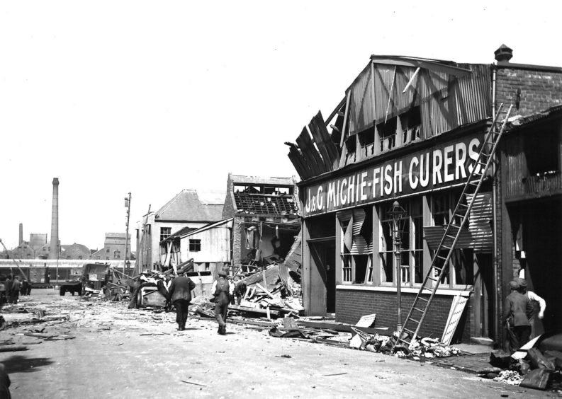 Clyde Street after 3 high explosive bombs hit on the 9th July 1941