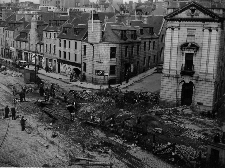 Regent Quay after 3 high explosive bombs hit on the 21st July 1941