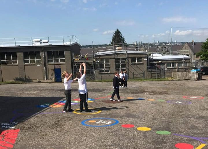 Kids enjoy the new-look playground at Abbotswell Primary