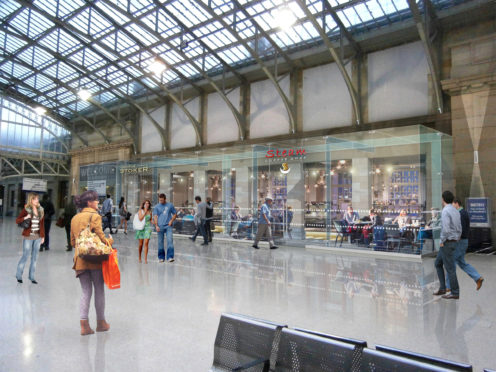 How the station will look once complete