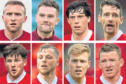 The Aberdeen eight, clockwise from left, Dylan McGeouch, Mikey Devlin, Scott McKenna, Craig Bryson, Jonny Hayes, Sam Cosgrove, Bruce Anderson and Matty Kennedy.