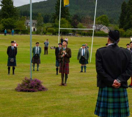 Aboyne Highland games was marked with a special ceremony