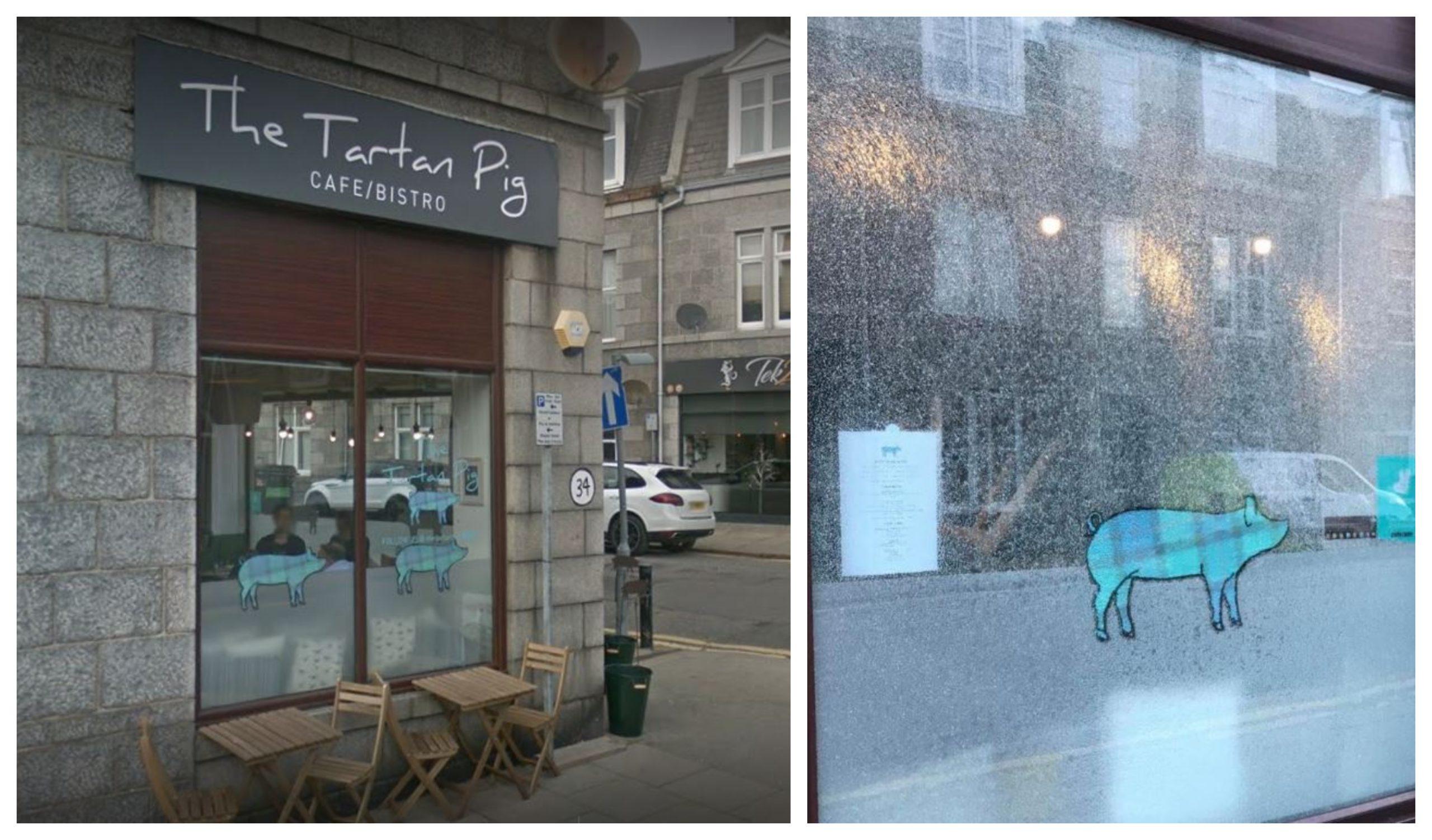The Tartan Pig on Hollybank Place, Aberdeen.