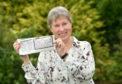 EE bingo winner Moira Archibald. Picture by Darrell Benns