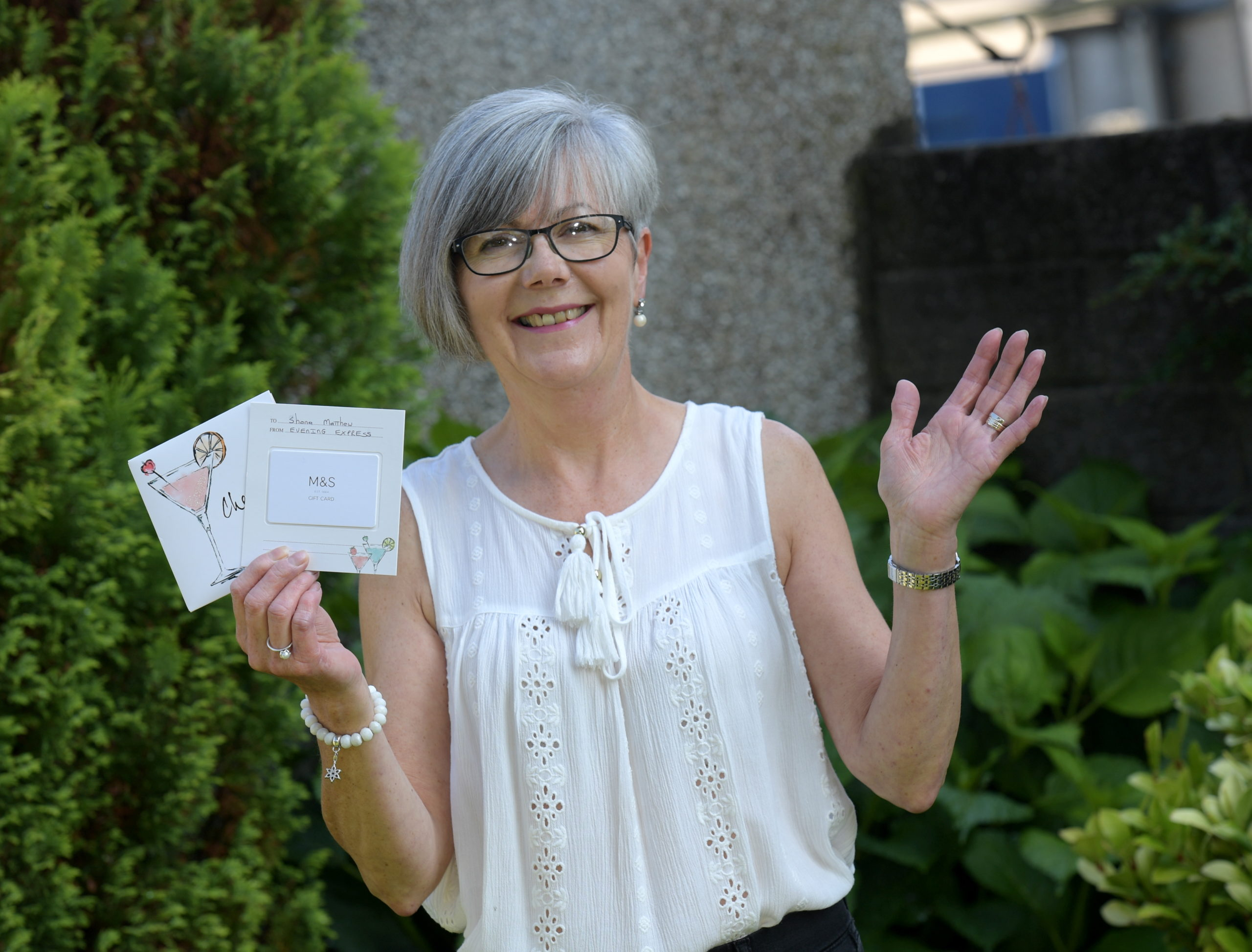 Back to School winner Shona Matthew with her vouchers. Picture by Kath Flannery