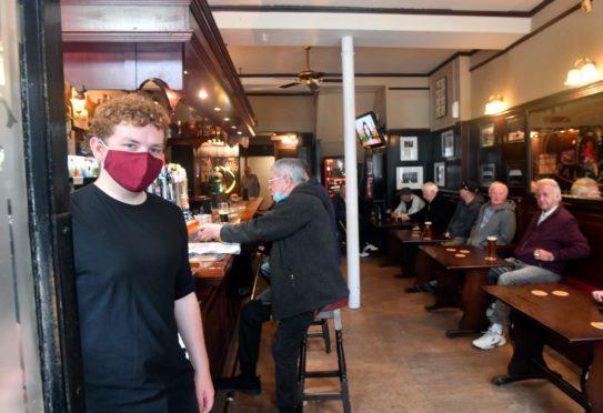 Barman Connor Forrest at Kirkgate Bar
