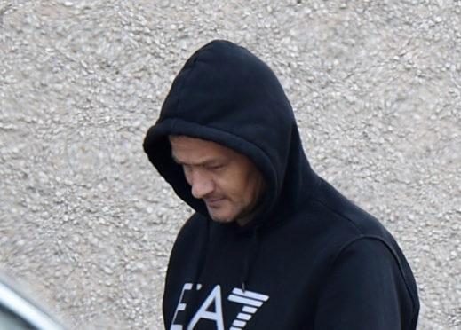 Terence Middleton leaving court.