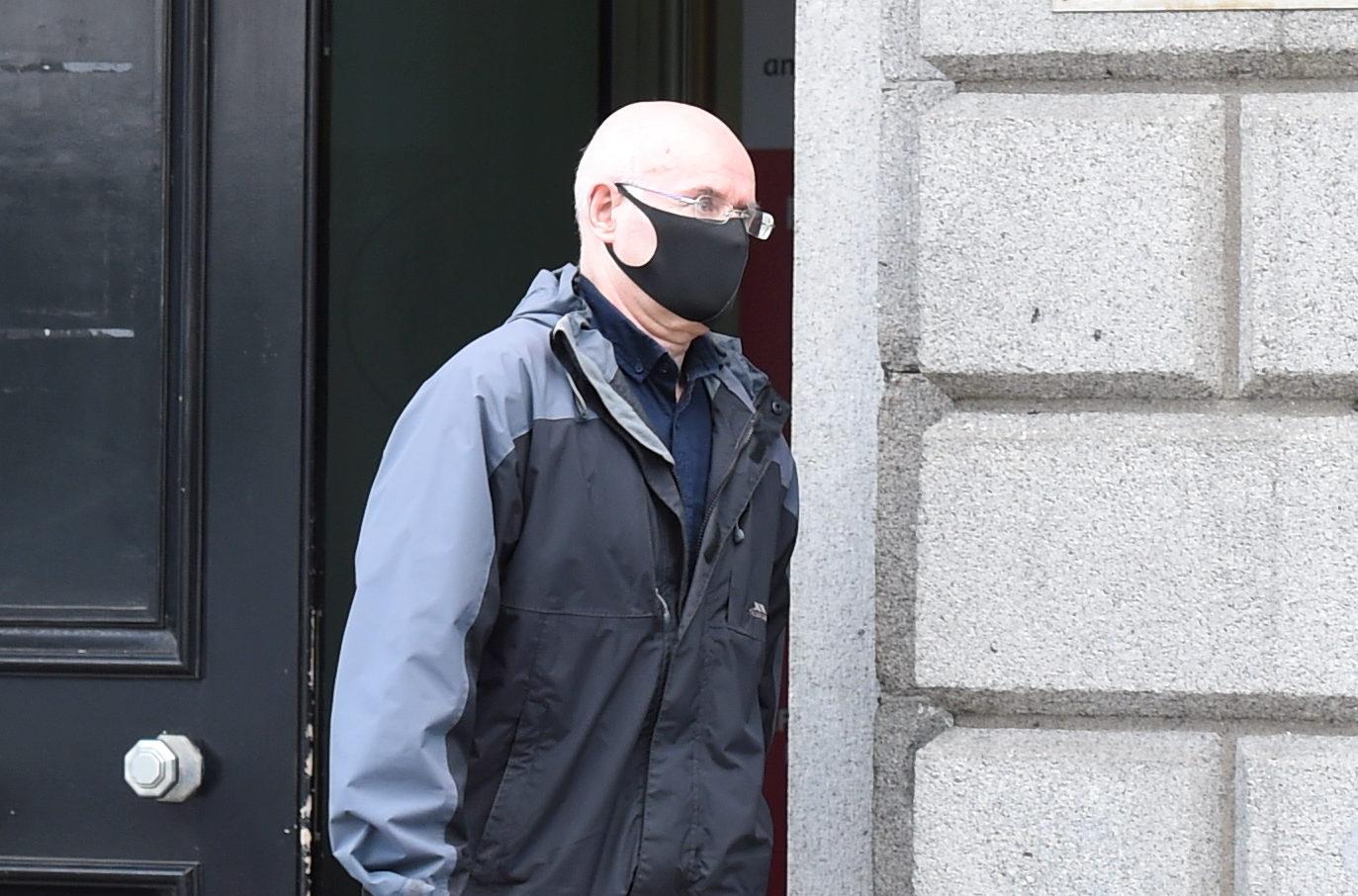 William Pirie leaving court.