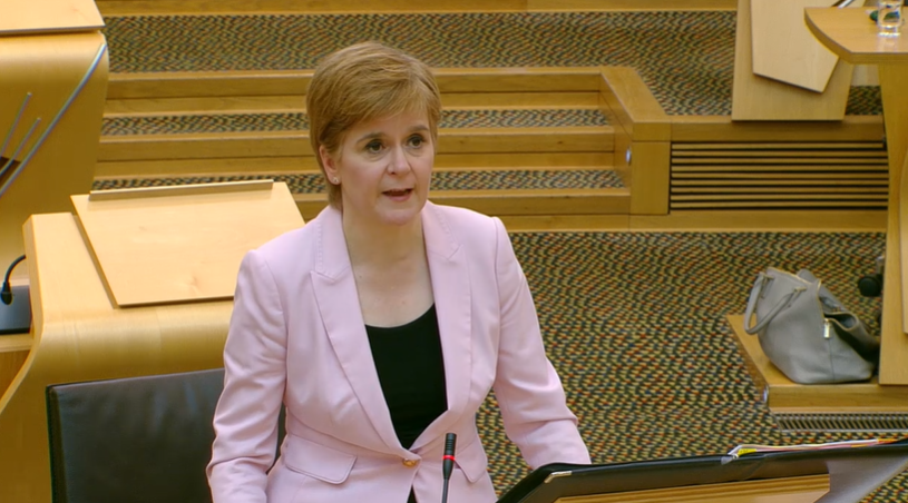 Nicola Sturgeon said ministers were not involved in clinical decisions around hospital discharges.
