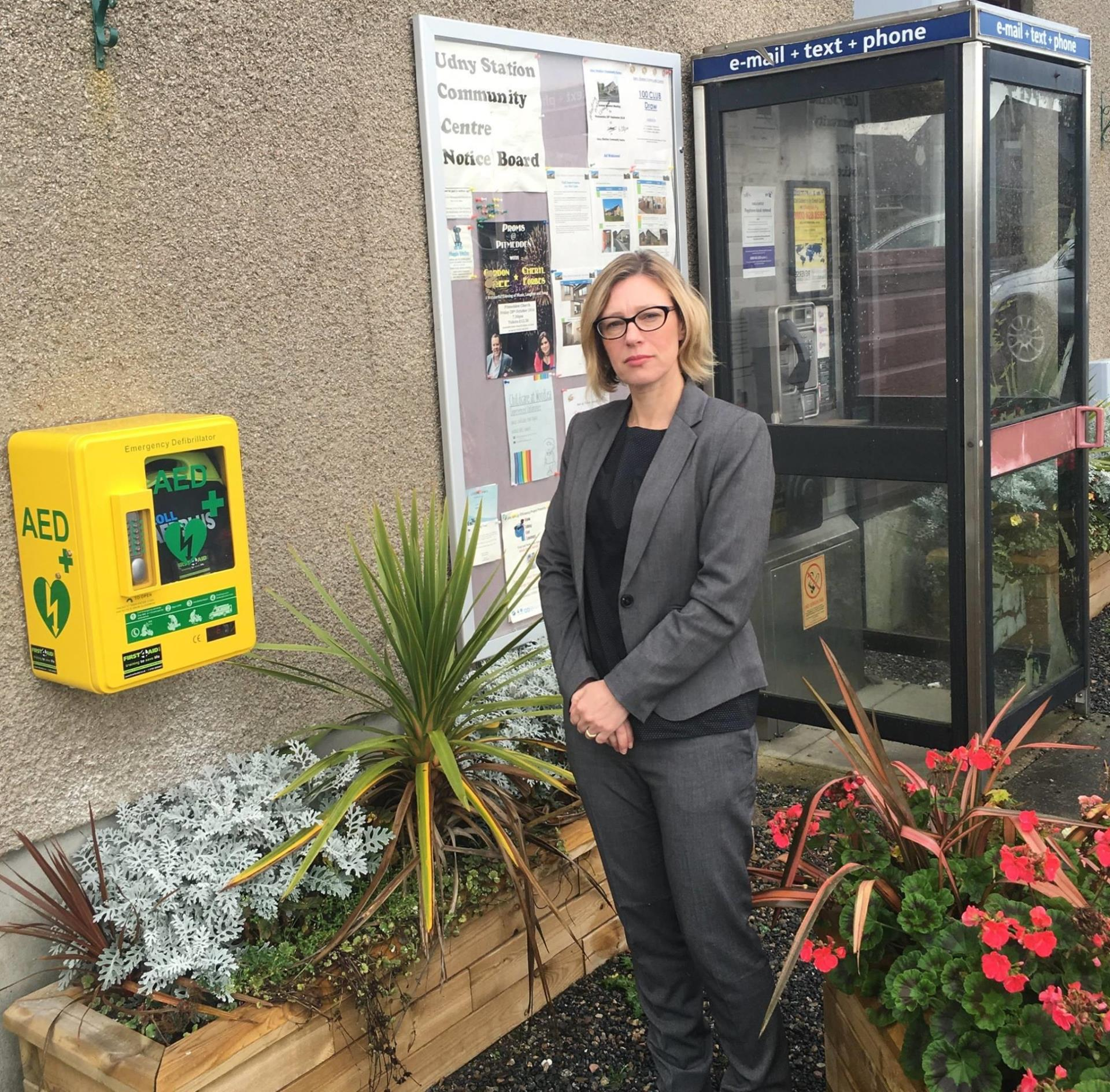 Gillian Martin has called on BT to rethink its plans for 24 phone boxes