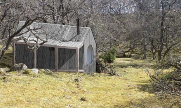 How the huts at the Invercauld Estate could look