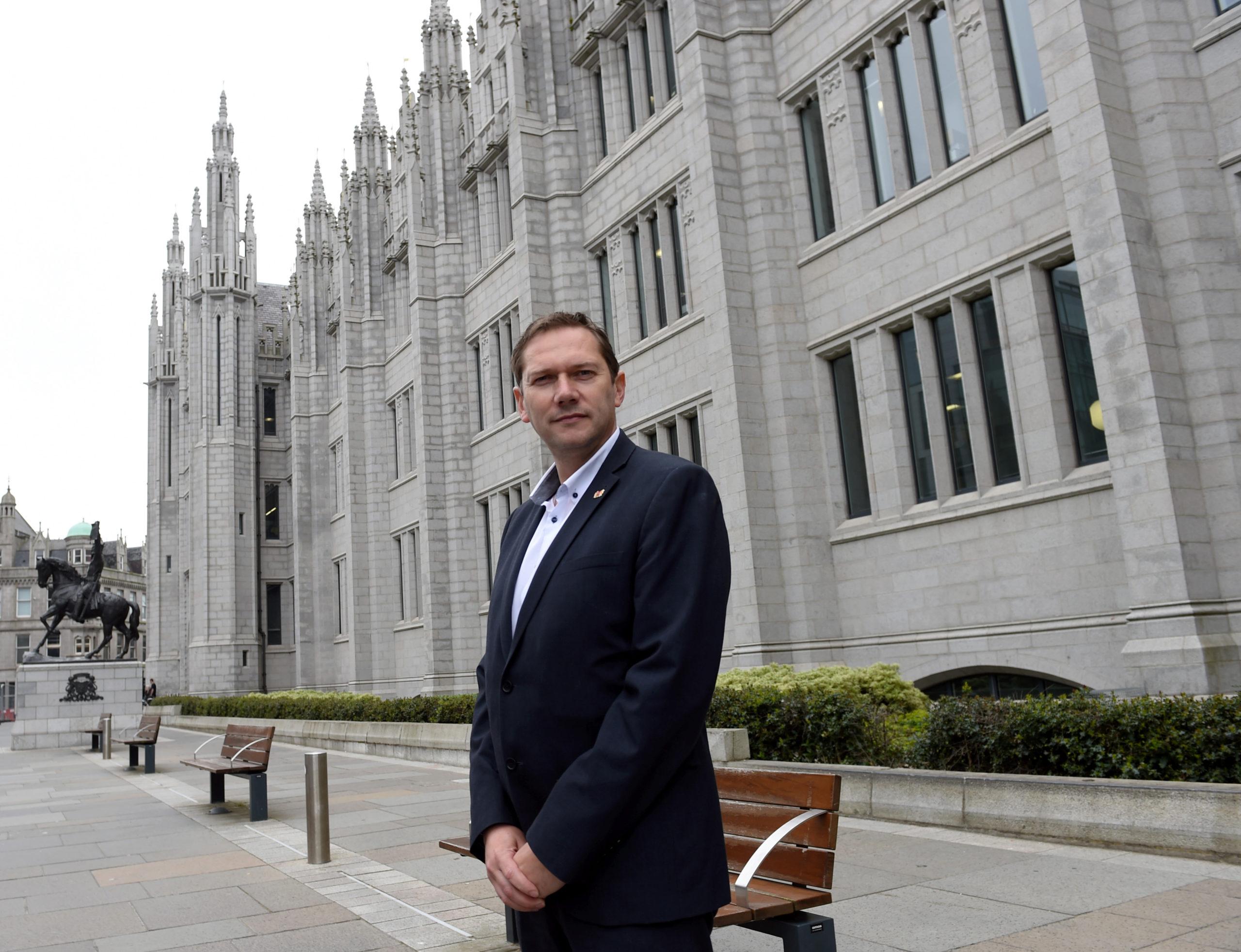 Aberdeen City Council co-leader Douglas Lumsden. Picture by Darrell Benns