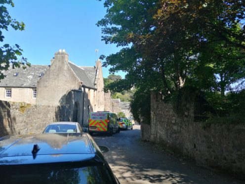 Part of Don Street closest to the Brig o' Balgownie was taped off by police earlier today