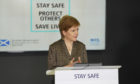 First Minister Nicola Sturgeon during her daily coronavirus briefing on August 14.
