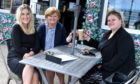 Molly's Cafe Bar, The Promenade Stonehaven. Pictured are from left, Megan Langdon the manager, Janet Langdon the owner and Briony Langdon.