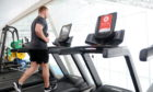 Duncan Scott on the treadmill at Aberdeen Sports Village. Picture by Darrell Benns