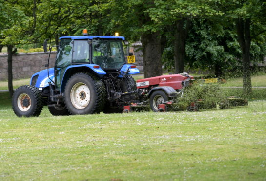 Grass cutting returned in June. Picture by Kath Flannery