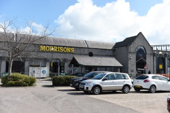 Morrisons supermaket in King Street Aberdeen
