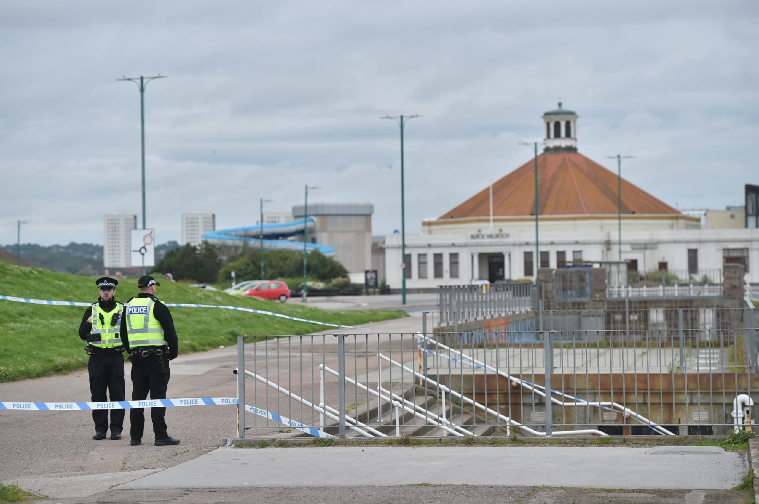 Police have cordoned off a section of Aberdeen beach. Picture by Scott Baxter