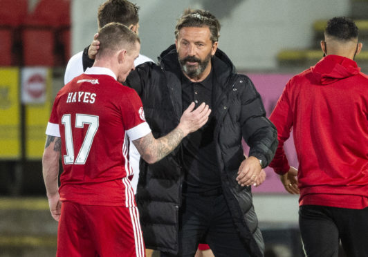 Derek McInnes brought Jonny Hayes back to the club this summer.