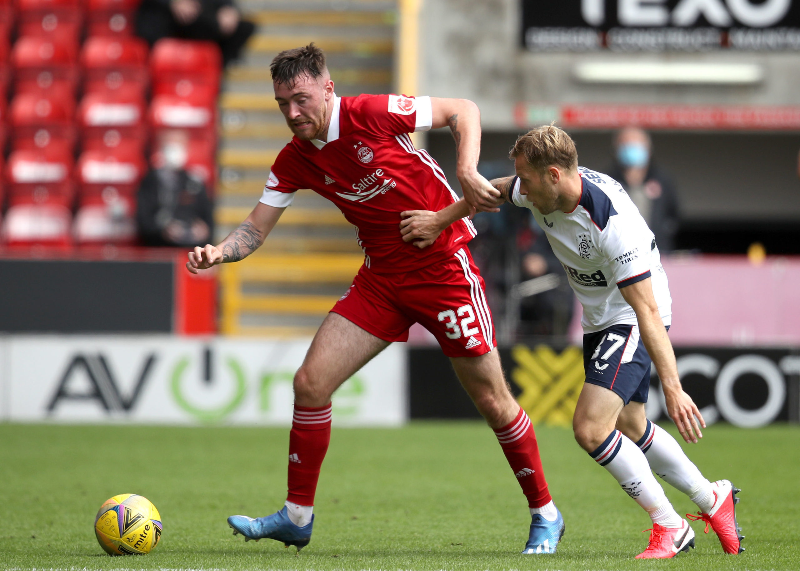 Ryan Edmondson's physicality helped Aberdeen get up the pitch.