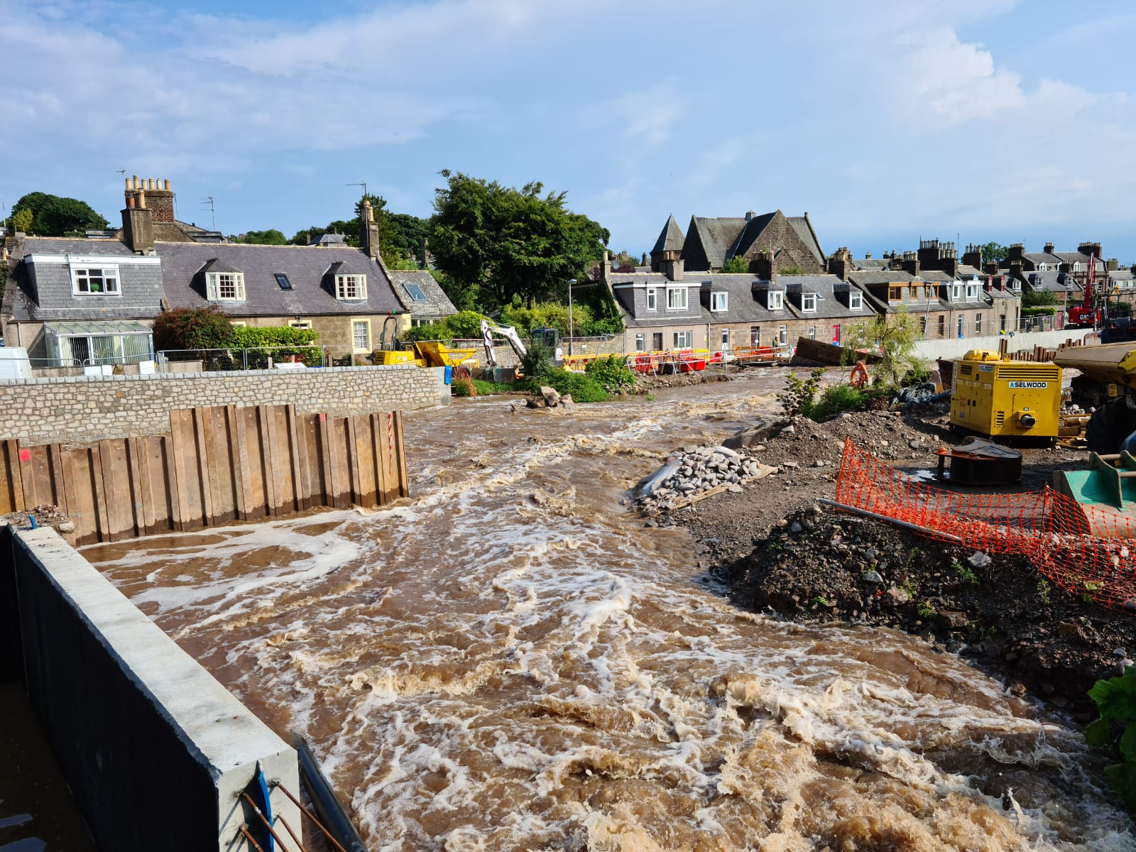 Flooding in Stonehaven. Picture by West Aberdeenshire and Kincardine MP Andrew Bowie