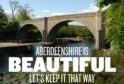 Aberdeenshire Council is asking visitors to keep the area tidy by not littering