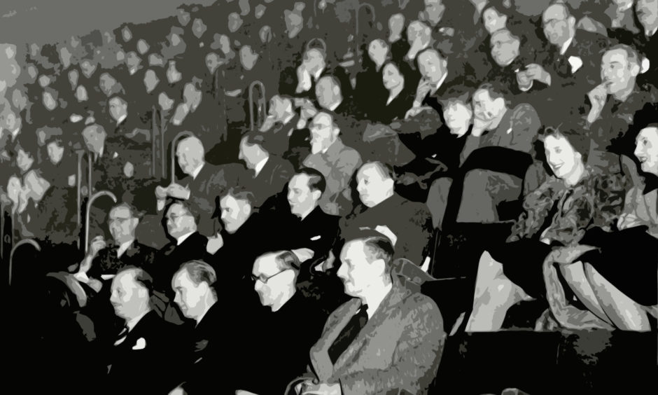 Mandatory Credit: Photo by Tony Weaver/ANL/Shutterstock (1806286a) Audience In The Prince Of Wales Theatre In London Watching A Movie. Audience In The Prince Of Wales Theatre In London Watching A Movie