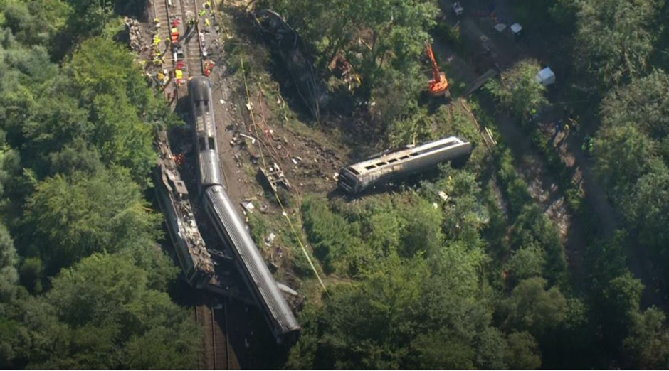 The train derailed south of Stonehaven