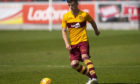 Jamie Semple in action for Motherwell