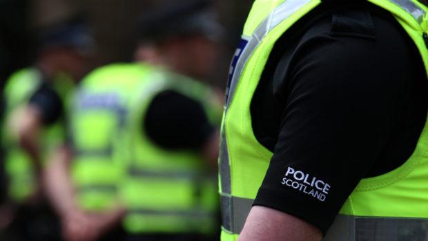 Police Scotland carried out a raid.
